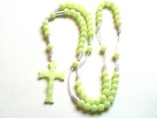 Rosary - Glow in the Dark green  Prayer Beads - Rosary Crucifix Necklace RF-10E0