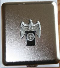 Cigarrera rico Adler Banner cruz cruz emblema metal nuevo