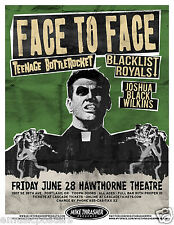 FACE TO FACE / TEENAGE BOTTLEROCKET 2013 PORTLAND CONCERT TOUR POSTER -Punk Rock