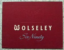 WOLSELEY SIX-NINETY Car Sales Brochure Aug 1958 #H5875