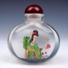 Peking Glass Inside *Chinese Beauty* Reverse Hand Painted Snuff Bottle #08291502
