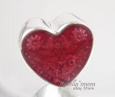 TE AMO LATIN LOVE HEART Genuine PANDORA Silver/Red Enamel VALENTINE Charm NEW