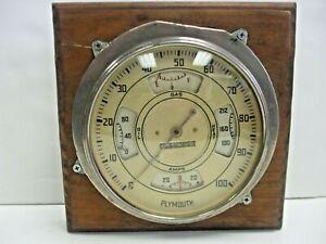 1936 Plymouth Speedometer OIL HEAT AMPS Instrument Gauge Cluster Motormeter G&E