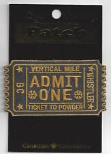 Whistler BC Souvenir Ski Patch Ticket to Powder Vertical Mile