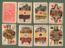 old PIKET playing cards deck + box. Pictorial  aces & nice courts #032
