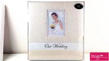 "Elegant Ivory ""Our Wedding"" Album with Rossette Design Cover GKI-WD1-AL"