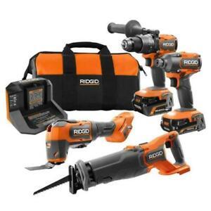 🆕 RIDGID R9225 Brushless Combo Kit
