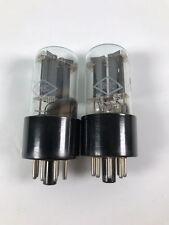 2 x 6N8S 1578 6SN7 ECC32 tubes Foton Matched pair! SILVER GRID! 1965!