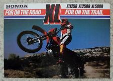 HONDA XL125R, XL250R & XL500R Motorcycle Sales Brochure 1982