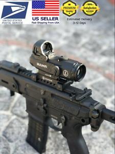 Leupo Mark 4 HAMR 4x24 Rifle Scope Lens Red Dot Multi-range Tactical Riflescope✅