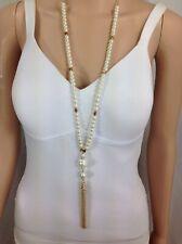 Ann Taylor Pearl & Tassel Necklace
