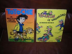 LOT 2 BD TABARY - TOTOCHE + VALENTIN LE VAGABOND - EDITIONS 1974