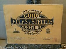 1943 City of Brisbane Atlas and Streets Directory Australia Australian 1940s
