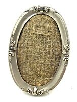 19th century silver plate pewter picture frame .