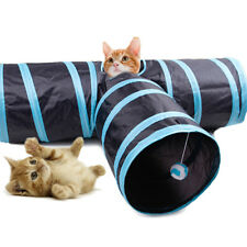 Collapsible Pet Cat Rabbit Tunnel Toy 3 Ways Shape Kitten Outdoor Tubes Toy Gift
