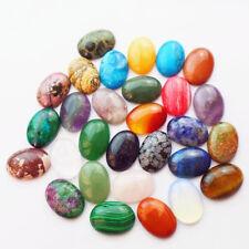 30Pcs Beautiful 25x18mm Mixed Gemstone Stone Oval CAB CABOCHON (Send Randomly)