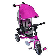 Dreirad Lenkstange mit Dach Kinder 2-5 Jahre Fahrrad Lila metallic