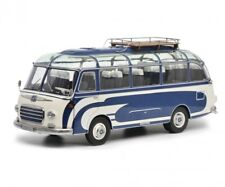 SETRA S6 BUS WITH ROOF RACK BLUE & WHITE LTD ED 1/18 DIECAST BY SCHUCO 450034700