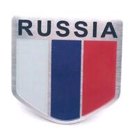 Sticker Aufkleber Russland Russia Metall selbstklebend 3D Auf Kleber Wappen RUS