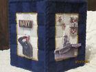 NAVY / UNITED STATES MILITARY  NEW HANDMADE TISSUE BOX COVER PLASTIC CANVAS