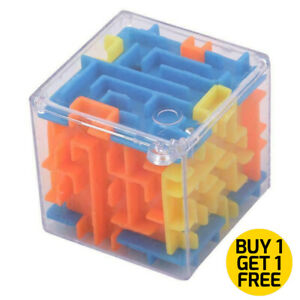 3D Maze Magic Game Cube Ball Rolling Balance Puzzle Labyrinth Toy for Kids Gift