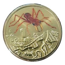 Australia 2014 Things That Sting Red Bull Ant $1 Dollar Coloured UNC Coin RAM