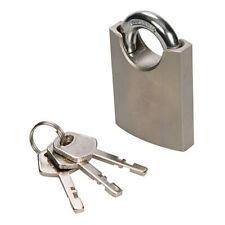 50mm Shrouded Shackle Padlock – Security Keyed Safe Lock – Gate Toolbox Luggage