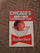 1992-93 Chicago Bulls Pocket Schedule Budweiser Championship Back 2 Back Version