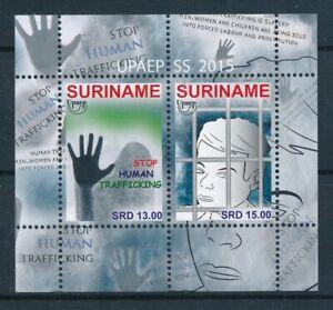 [SU2141] Suriname 2015 UPAEP Human trafficking Souvenir Sheet MNH