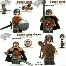Juego de tronos lote 4 minifigura Stark y 1 marcapaginas