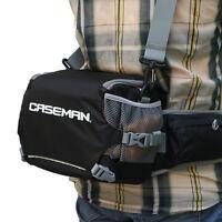Caseman AW01 DSLR SLR camera bag Black shoulder messenger bag + fanny pack waist