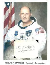 Thomas Stafford Autograph Apollo 10 Gemini Space Astronaut Lunar Module #2