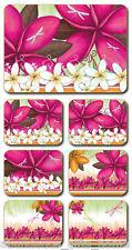 'Summer Frangipani' Lisa Pollock Cork Backed Placemats - Set of 6 *NEW*