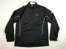 NEW adidas Louisville Cardinals  - Black Climaproof Pullover (M)