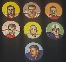 1963 - CFL - NALLEY'S POTATO CHIPS - FOOTBALL COINS (7) - ORIGINAL