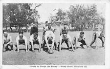 CAMP GRANT Rockford, Illinois FOOTBALL GAME Sports Team 1918 Vintage Postcard