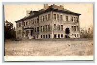 Vintage Early 1900's RPPC Postcard North Bend Oregon Schoolhouse UNPOSTED