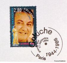 Yt 2902 COLUCHE    FRANCE  FDC  NOTICE PHILATELIQUE  PREMIER JOUR