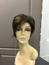 Envy SHARI LARGE Modern Pixie Synthetic Short Wig, Open Cap, Medium Brown