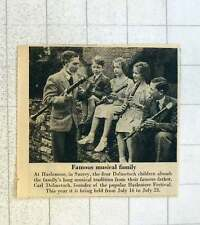 1955 4 Dolmetsch Children At Haslemere Surrey
