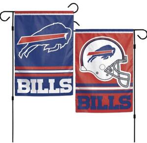 "Buffalo Bills 2 Sided 12.5"" x 18"" Garden Flag [NEW] NFL Banner Sign Yard"