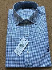 "Ralph Lauren Men's Custom Regent Check Stripe Long Sleeve Shirt, Size 16"",RRP£85"