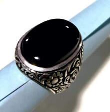 Original Yemeni Aqeeq Stone ring in 925 Silver Handmade