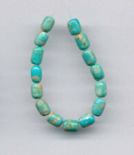 """MEXICAN BOULDER TURQUOISE BARREL BEADS - 4"""" Strand - 2451"""