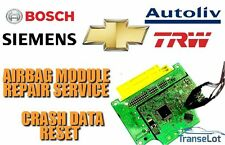 CHEVROLET AIRBAG ECU SRS ECU AIRBAG MODULE CRASH DATA RESET REPAIR SERVICE