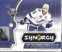 2018-19 Upper Deck Hockey Synergy Hobby Box Sealed - 8 Packs per box