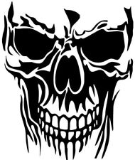 large skull grim reaper car bonnet side vinyl stickers graphic decal wall art vw