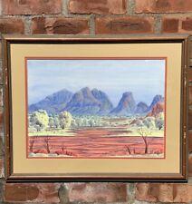 Australian Aboriginal Artist Douglas Kwarlpe Abbott Signed Watercolor Landscape