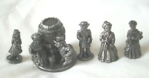 LOT OF 5 MINI PEWTER FIGURES THE AMERICANA COLLECTION AH71