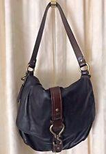 Cole Haan Black & Brown Leather Satchel Handbag